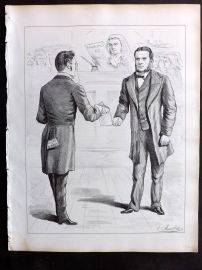 E. C. Mountfort - The Dart 1880's Political Cartoon. Bankruptcy Act